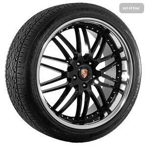 "22"" inch Black w Chrome Lip Porsche Cayenne Wheels Rims and Tires"