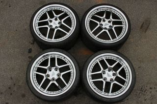 "Corvette C5 Z06 20"" 19"" Chrome Wheels w Tires Set of 4 Used"