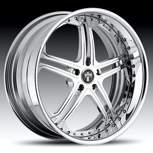 "19"" Dub 3 Piece Type 10 Chrome Wheel Set Custom Forged Rims 5 6 Lug Vehicles"