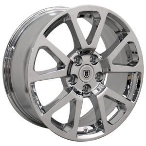 "New 18"" 2008 13 Cadillac cts V Replica Chrome Wheels Rims 18x8"" Hollander 4648"