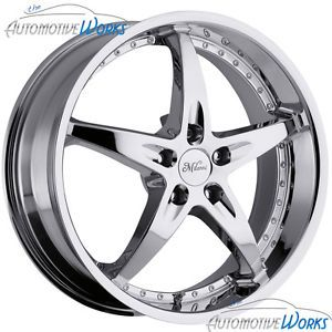 18x8 Milanni ZS 1 5x120 40mm Chrome Wheels Rims inch 18