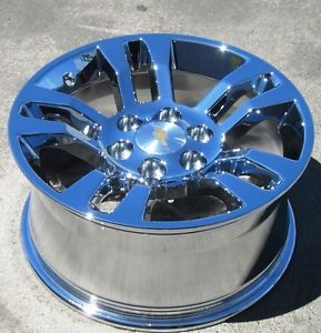 "Set of New 4 2014 18"" Factory Avalanche Silverado Tahoe Chrome Rims Wheels"