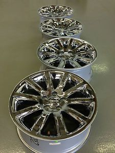4 2013 Chrysler 300 C Motown Dodge Factory 18 Chrome Wheels Rims Varvatos