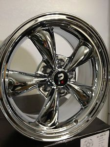 17 inch Chrome Ford Mustang Bullet OE Wheels Rims 17x10 5 Staggered 5x4 5