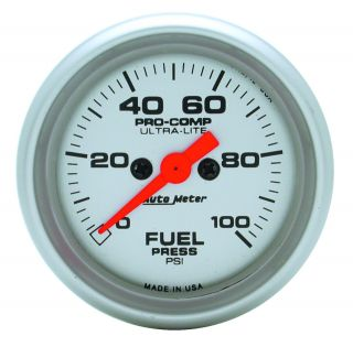 Auto Meter 4363 Ultra Lite Electric Fuel Pressure Gauge