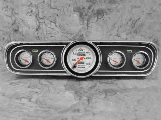 65 66 Mustang Black Dash Bezel w Auto Meter Ultra Lite Gauges Instruments