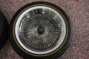Dayton Wire Wheels Chrome Wire Wheels with Vogue Tires 17inch 4 75 5 00