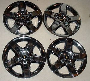 2008 2012 Chevrolet Malibu 17 inch Chrome Wheel Cover Hubcaps Set of 4