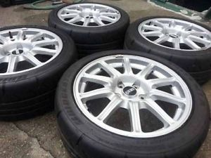 4 BBs 06 STI Wheels Rims 5x114 17x8 Bridgestone Tires Pristine Condition