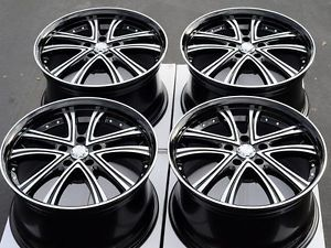18 5x112 Rims Black Mercedes Benz S430 E320 S500 S600 Passat Jetta Alloy Wheels
