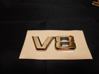 V8 Custom Chrome Emblems Wheels Dub Rims Badges This Is for 1