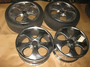 90 91 92 93 94 95 96 Nissan 300zx Aftermarket Wheels Rims 5 Spoke Chrome 18""