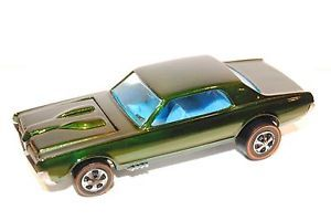 Olive Custom Cougar Restored Redline Hot Wheels