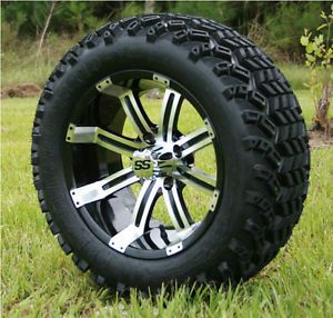 "New 14X7 Tempest Golf Cart Wheels and 23"" Sahara Classic All Terrain Tires"