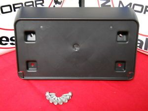 Dodge Challenger 2008 2010 Front Bumper License Plate Bracket Frame Holder Mopar