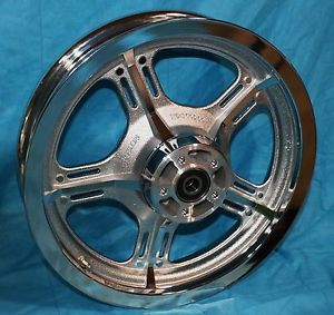 "Harley Davidson New Chrome Lighteningstar Rear Wheel Kit 16"" 41104 03"