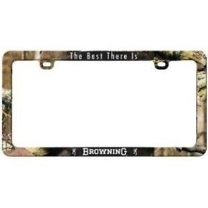 New Browning License Plate Frames Browning Infinity Camo BBLF2502