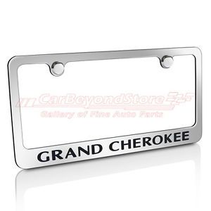 Jeep Grand Cherokee Chrome Metal License Plate Frame Free Gift Licensed