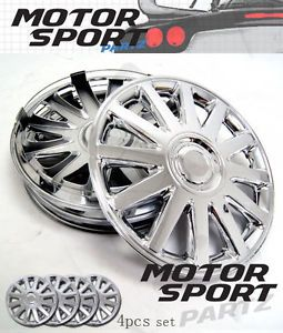 "16 inch 4pcs Set Chrome Hubcap Rim Wheel Skin Cover Style 610 16"" inches Hub Cap"