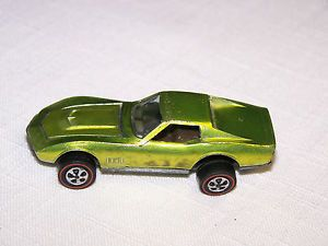 1968 Hot Wheels Red Line Custom Corvette Light Green Good Condition