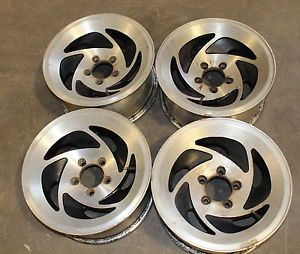Set American Racing 15x7 Alloy Wheels Rims 5x4 5 Jeep Cherokee Sawblade Wrangler