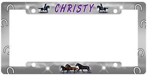 Horses License Plate Frame Gifts Name Girls Ladies