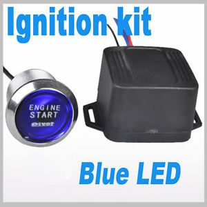 Car 12V Engine Start Blue LED Push Button Switch Ignition Starter
