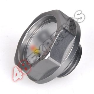 Titanium Mugen Power Gas Oil Fuel Filler Fill Tank Cap Cover Plug for Honda Auto