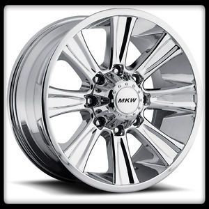 "20"" MKW Offroad M87 Chrome Rims Toyo 275 60 20 Open Country at Wheels Tires"
