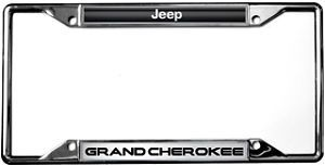Jeep Grand Cherokee Chrome Zinc License Plate Frame New