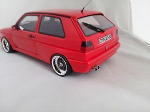 1 18 Scale VW Volkswagen Golf MK2 Rallye Red with BBs RS Wheels Limited
