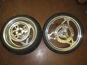 Custom Chopper Wheels Iron Horse Harley Billet Mag Rotors Very Nice Custom Rims