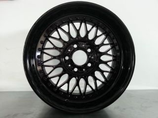 "Original BMW BBs Style 5 Two Piece 17"" Wheels Gloss Black Rims"
