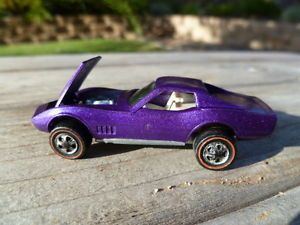 Redline Hot Wheels 68 Custom Corvette Purple