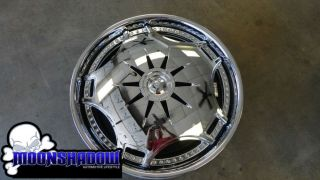 "24"" Dub Ganja S788 Spinner Wheels Rims 5x115 5x120 Dodge Charger Magnum 300 BMW"