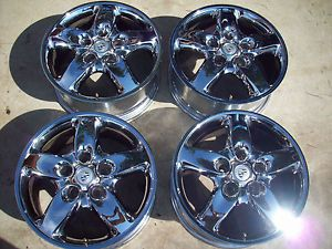 "5 Lug 18"" Porsche Cayenne 5 Spoke Turbo Chrome BBs VW Wheels Rims 67263 ICJ6"