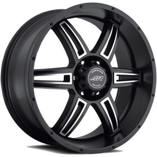 American Racing AR890 Rims Wheels Black 20x8 5 5x127 35
