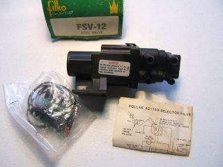 Filko FSV12 Universal Fuel Gas Tank Select Valve Pollak 42 149 5 Port 30 PSI