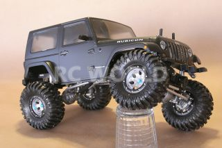 1 10 Rock Crawler RC Truck Jeep Wrangler Rubicon Black 2 4GHz RTR 90 Metal