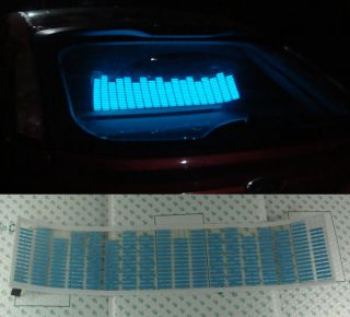 Car Sound Music Activated Equalizer Glow Light Blue Kit