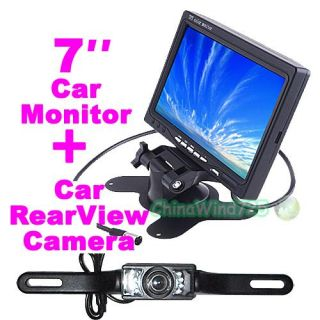 "7"" Pillow TFT LCD Color Car Monitor Car Rear View Camera System"