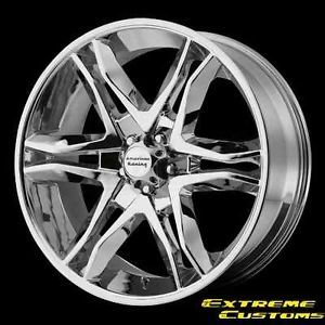 20 x8 5 American Racing AR893 Mainline Chrome 5 6 Lug Wheels Rims Free Lugs