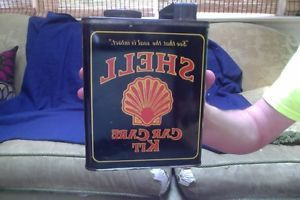 Vintage Shell Car Care Kit Oil Can