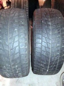 Pair of Bridgestone Blizzak Winter Tires 255 45 R18 11 16 Tread $845 New