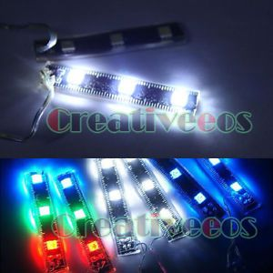 2X Car Motorcycle 5050 3SMD Flexible Decorative Strobe Flash LED Strip Light New