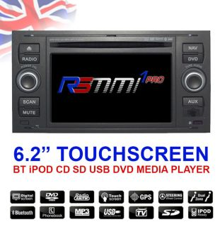 "Ford Focus 2004 2007 6 2"" Touch Car DVD CD Player GPS SAT Nav iPod BT"