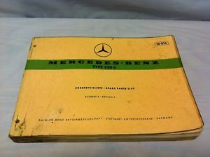 Original Mercedes Benz 220 B Large Format Parts Book