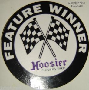 New Hoosier Racing Tire Feature Race Winner Decal Sticker USAC NHRA Sprint Car