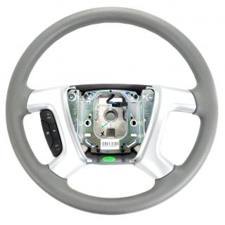 09 12 Chevy Traverse Grey Vinyl Steering Wheel Gray with Cruise Cntrl 25931027