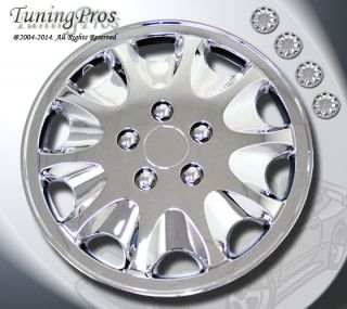 "Style 028 15 inches Chrome Hub Caps Hubcap Wheel Rim Skin Covers 15"" inch 4pcs"